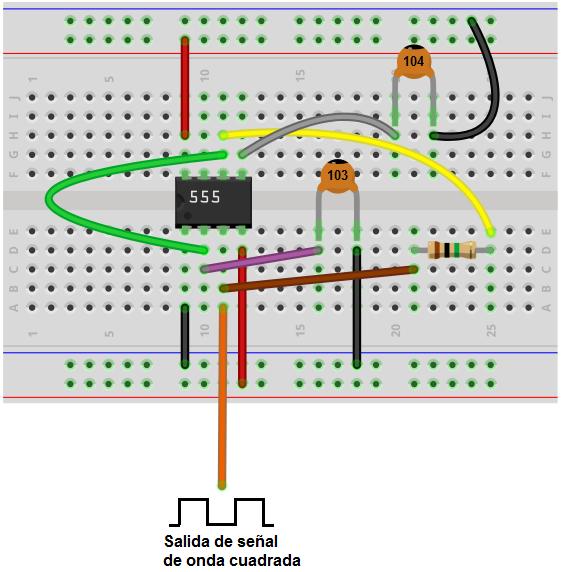 Circuito Oscilador 555 : Cómo construir un oscilador con temporizador en