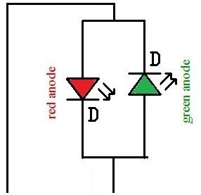 2 terminal tri color led