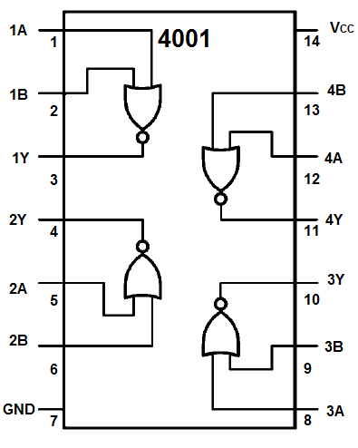 How To Build A Touch On Off Circuit With A 4001 Nor Gate Chip