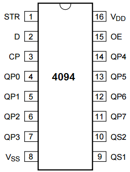 4094 register pinout