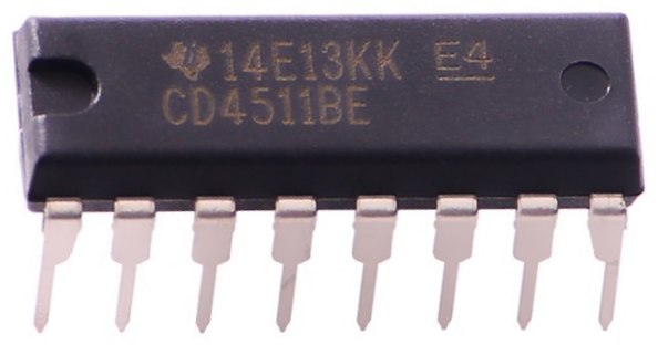 4511 BCD to 7 segment display decoder