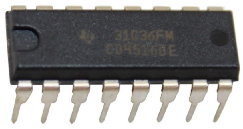 4516 binary up/down counter