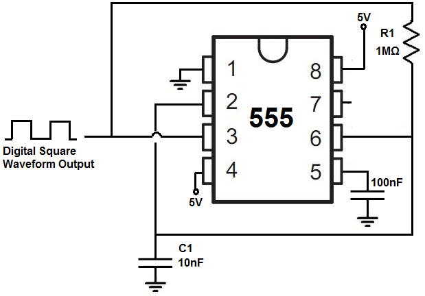 How to Build a Clock Circuit with a 555 Timer  Schematic on