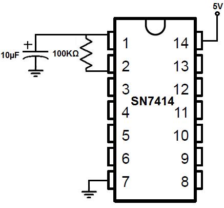 How to Build an Oscillator Circuit with a 7414 Schmitt