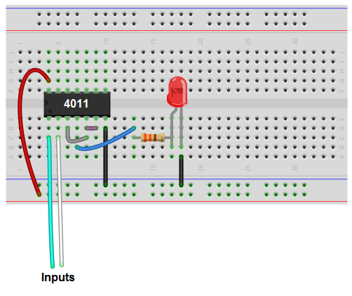 And Gate From Nand Gate Breadboard Schematic - Wiring Diagram Options