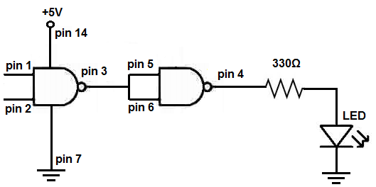 how to build an and gate from a nand gate, wiring diagram