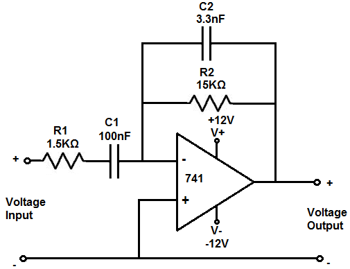 Band pass filter calculator op amp.