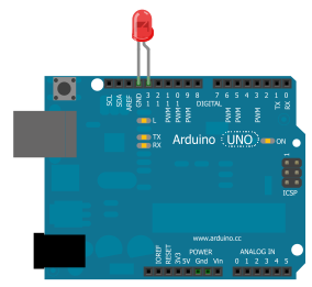 Arduino LED flasher circuit