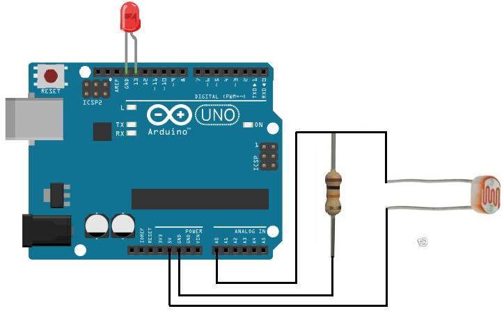 Arduino light detector circuit
