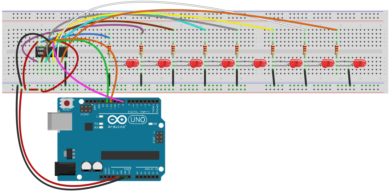 Arduino Shift Register Circuit on arduino power control