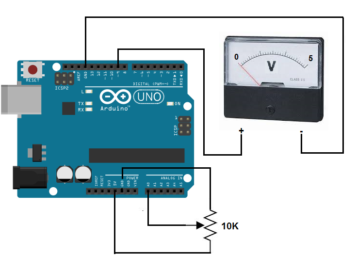 Digital Voltage Meter Circuit Diagram | Arduino Voltmeter Circuit