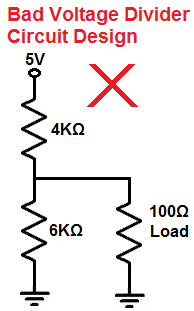 Bad voltage divider circuit design