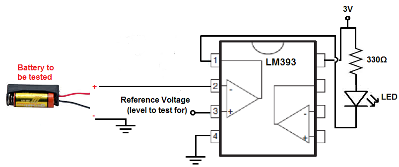 lm393 comparator how it works