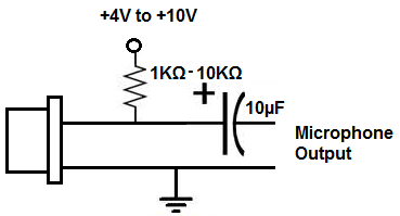Electret Microphones on condenser mic circuit diagram 4