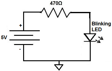 Blinking LED circuit