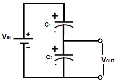 Capacitor voltage divider