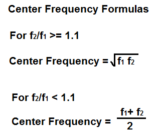 Center Frequency Calculator