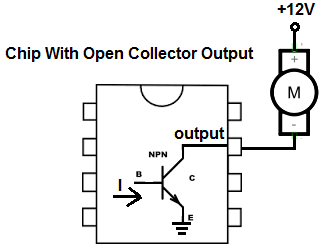 Example of a chip with open collector output