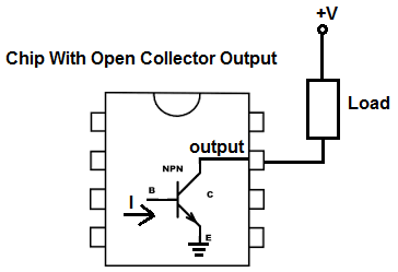 what is open collector output rh learningaboutelectronics com Open Collector Relay Driver open collector digital output wiring
