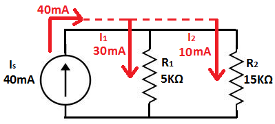 current divider circuit rh learningaboutelectronics com Parallel Circuit Voltage Drop Formula Parallel and Series Circuits