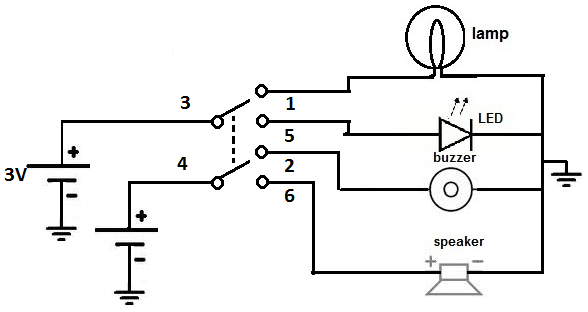 DPDT toggle switch circuit toggle switch wiring 3 Wire Switch Wiring Diagram at gsmx.co