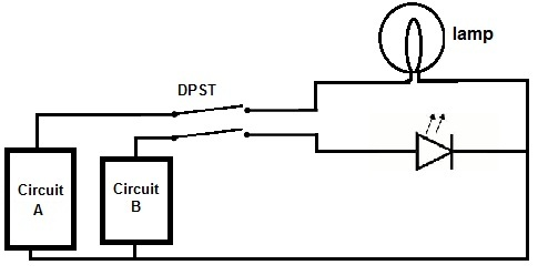 double pole single throw (dpst) switch circuit