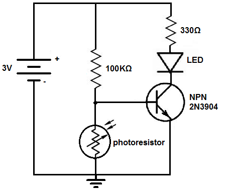 how to build a dark activated light circuitdark actived light circuit