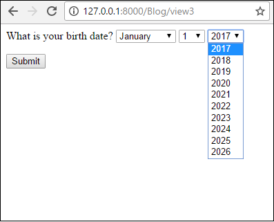 How to Create a Date Form Field in a Django Form