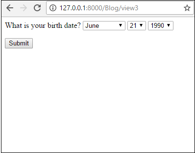 Date form field with an initial date specified in a Django Form
