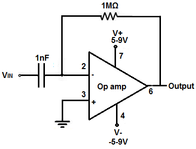 Op Amp Circuit Differentiator Circuit Schematic Diagram - Wiring
