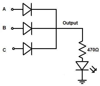 how to build a diode or gate circuit With diodeor circuit