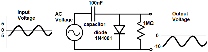 Diode clamper circuit negative unbiased