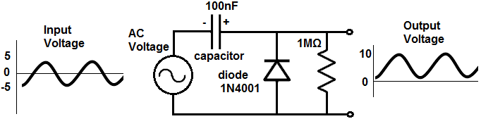 Diode clamper circuit positive unbiased