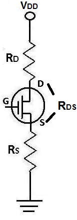 Drain-source resistance RDS of a JFET Transistor