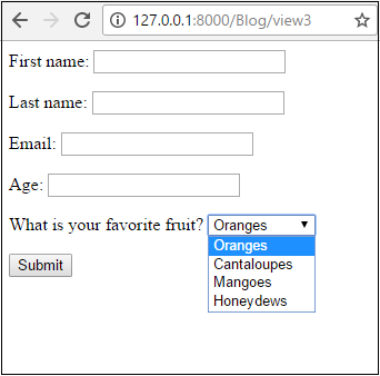 How to Create a Drop-down List in a Django Form