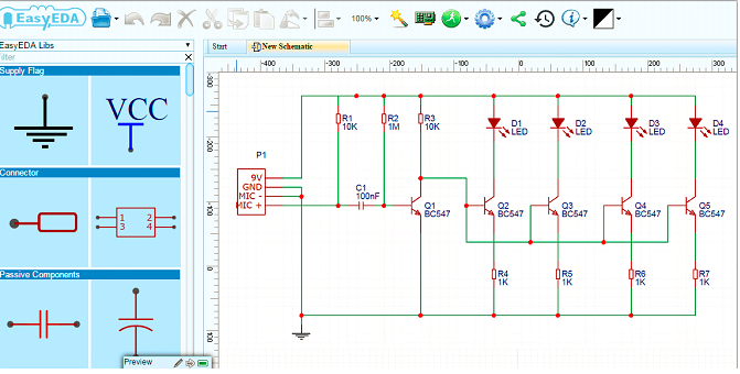 PCB layout on software