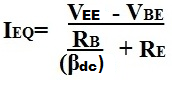 Emitter current formula using emitter bias of a BJT Transistor