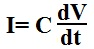 Formula for calculating current through a capacitor