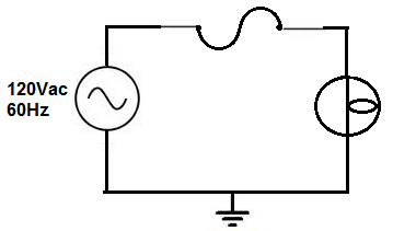 fuse schematic symbol rh learningaboutelectronics com Series Circuit Diagram Closed Circuit Diagram