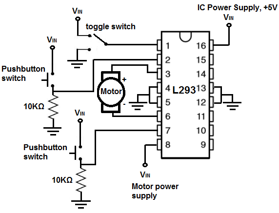 H Bridge Circuit on toggle switch schematic