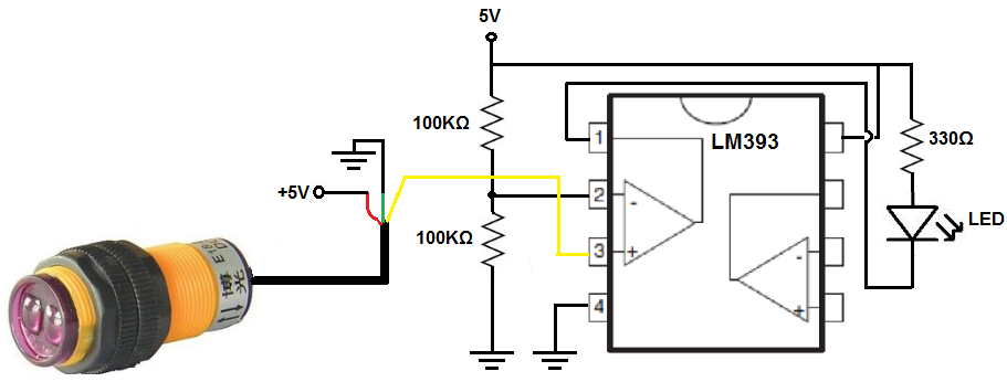 How To Build A Infrared Proximity Switch Circuit With A