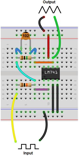 Integrator Circuit Diagram | How To Build A Integrator Op Amp Circuit