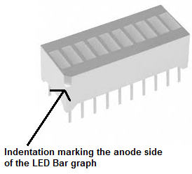LED bar graph anode side