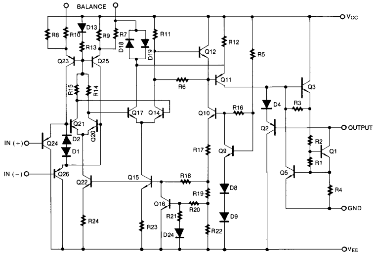 LM311 internal diagram