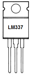 LM337 adjustable voltage regulator