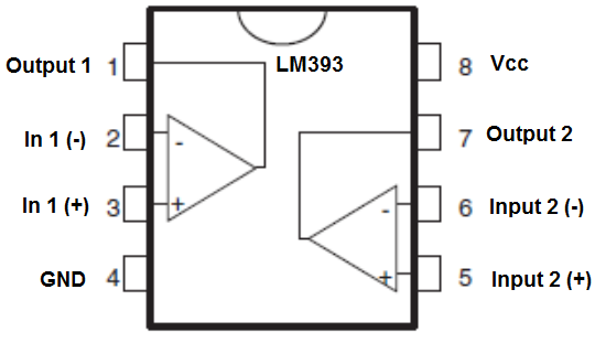 LM393 Voltage  parator Circuit on op amp chip