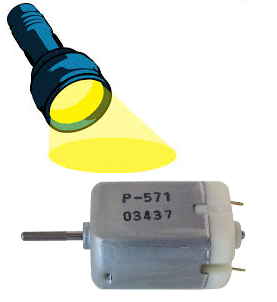 Light-activated motor
