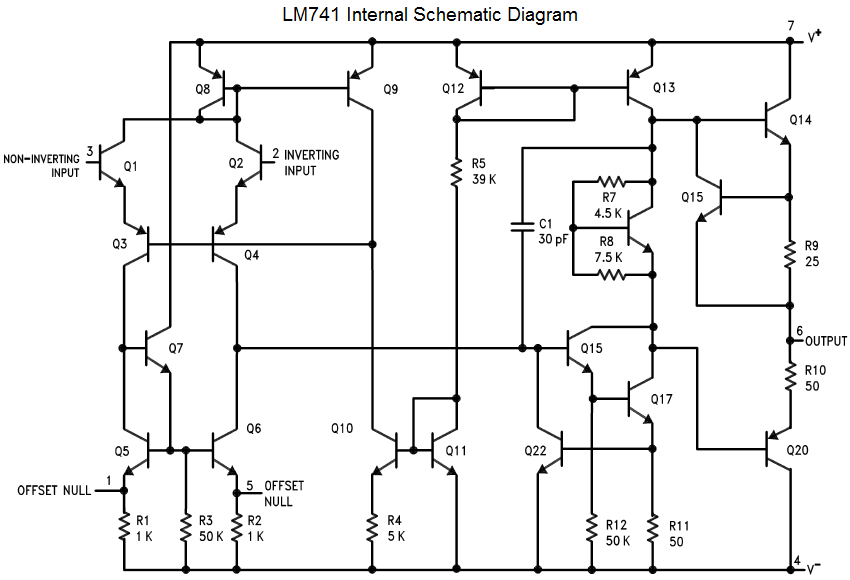 Circuit Diagram Of 741 Op Amp | Wiring Diagram on