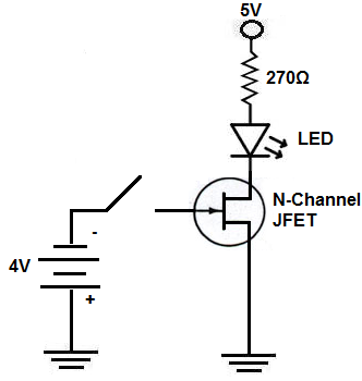 N Channel JFET switch circuit how to build an n channel jfet switch circuit