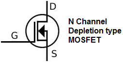 N channel depletion type MOSFET symbol